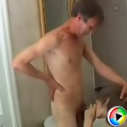 Hot young twink gets treated like a whore by a horny old man
